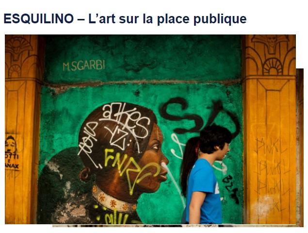Esquilino - L'art sur la place publique con opera di Mauro Sgarbi